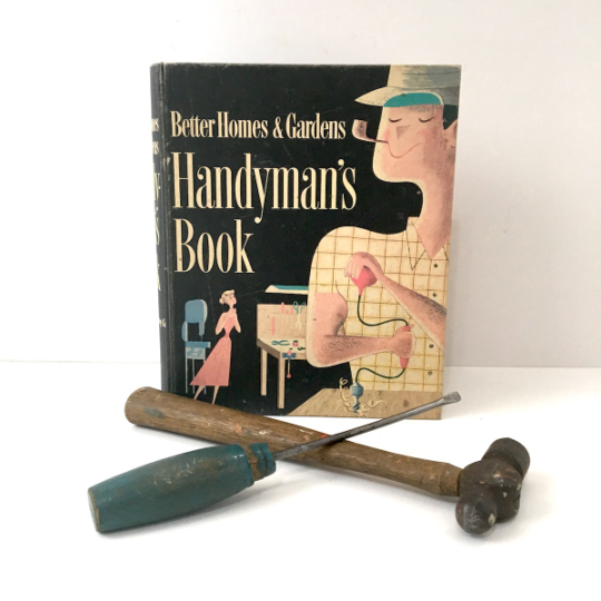Better Homes and Gardens Handyman's Book - 5 ring hardcover - 1957 fifth printing - NextStage Vintage