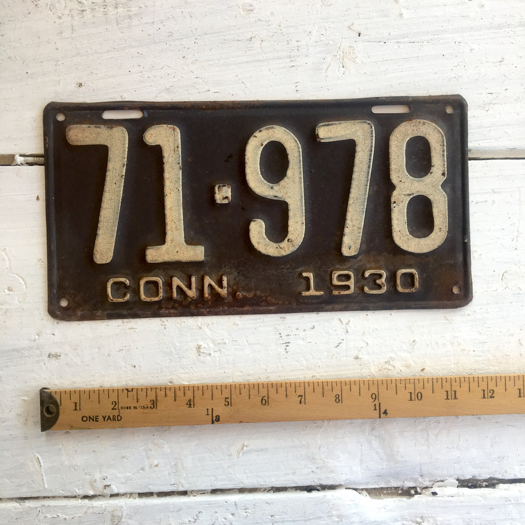 1930 Connecticut automobile license plate - number 71-978