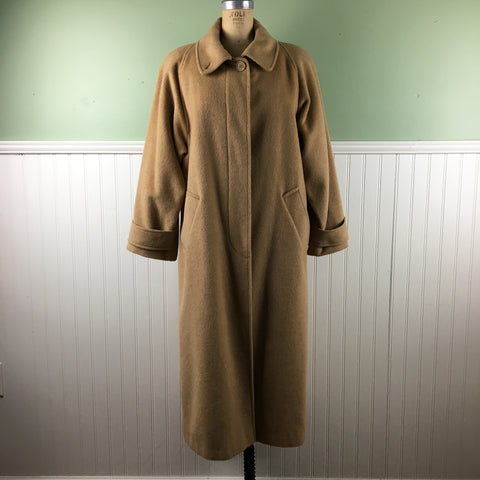 80s camel hair balmacaan coat - Steve by Searle - size medium - NextStage Vintage