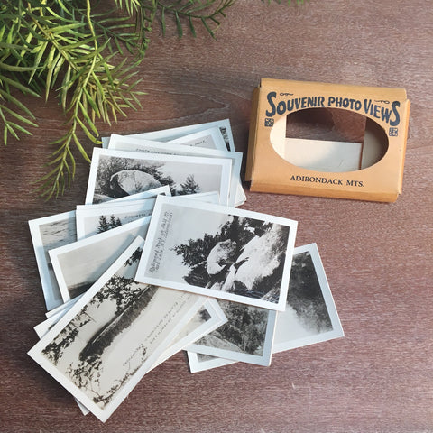 Adirondack Mts. souvenir photo views - vintage 1940s souvenir sepia tone photos - NextStage Vintage