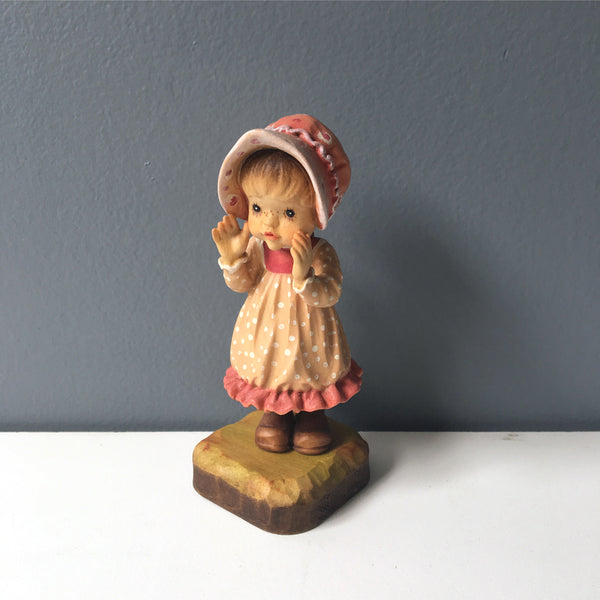 Sara Kay designed ANRI wooden girl figurine - made in Italy - NextStage Vintage