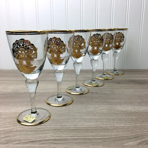 Artesania Tabuisa whiskey sour glasses - 6 glasses made in Peru - new with tags - NextStage Vintage