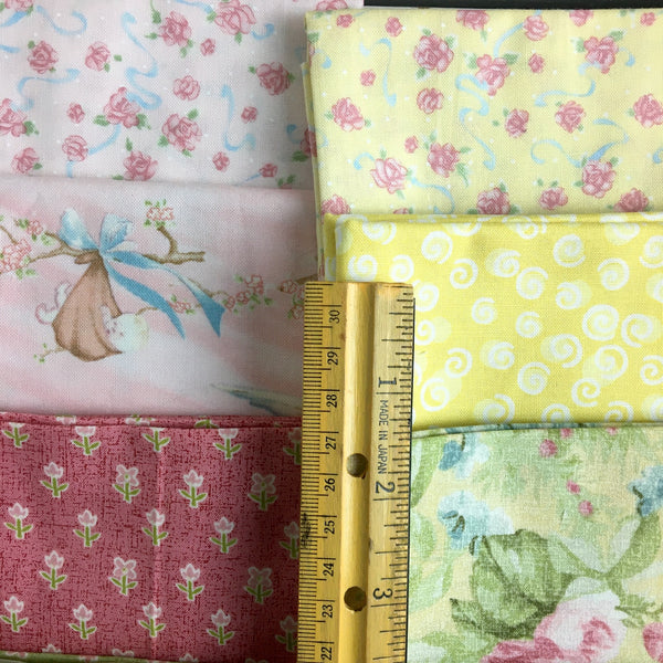 Fat quarters - baby lights and brights - 18 pc. - color mix - destash lot - NextStage Vintage