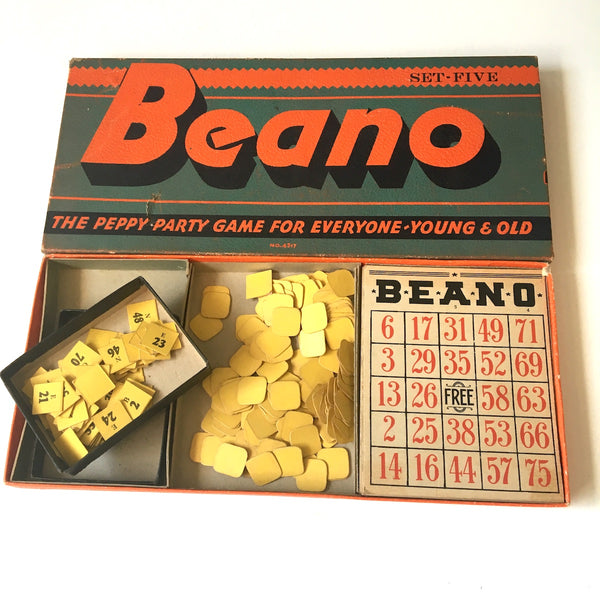"Beano ""The Peppy Party Game for Young and Old"" No. 4317 - Set five - vintage 1940s game - NextStage Vintage"