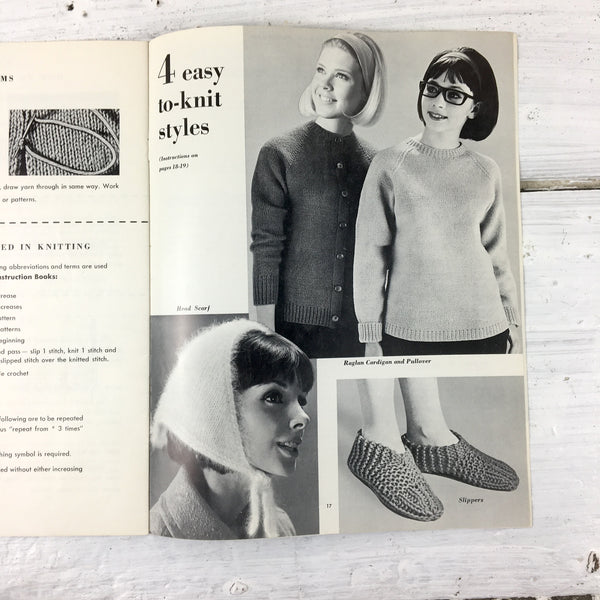Learning to Knit - 1963 instruction book with patterns