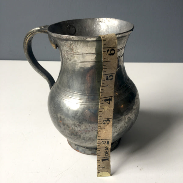 Antique quart belly tankard - cast and hammered - NextStage Vintage