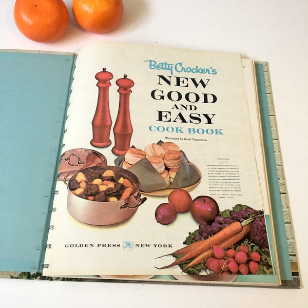 Betty Crocker's New Good and Easy Cook Book - 1962 hardcover - NextStage Vintage