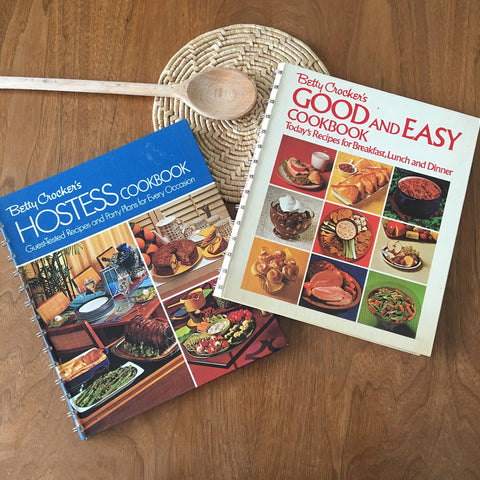 1970s Betty Crocker twofer - Good and Easy Cookbook and Hostess Cookbook - NextStage Vintage