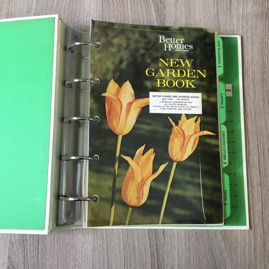 Better Homes And Gardens New Garden Book 5 Ring Binder 1968