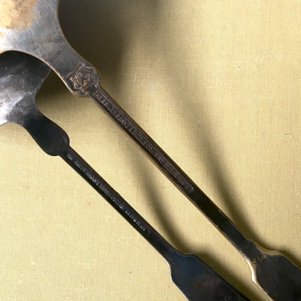 Bailey, Banks & Biddle ladle pair - vintage silverplate - NextStage Vintage