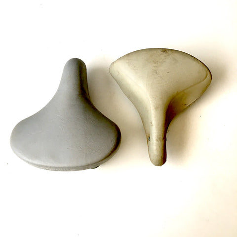 Vintage spring saddle bike seats - Mertens and unmarked - pair