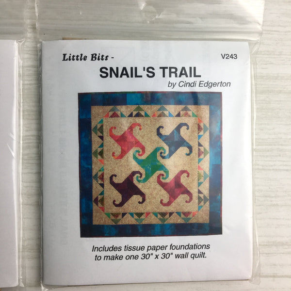 Little Bits by Cindi Edgerton - 6 patterns - destash lot #1