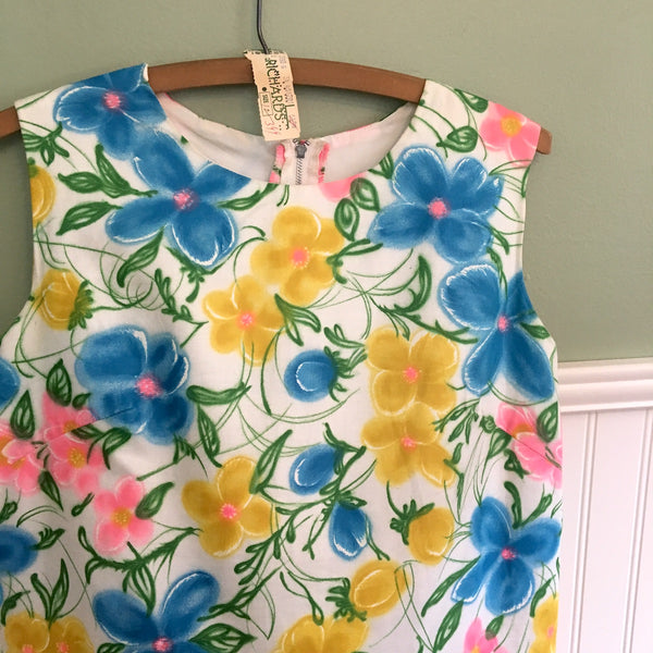 Miami Originals sleeveless A-line shift - size small - 1960s floral vintage dress - NextStage Vintage