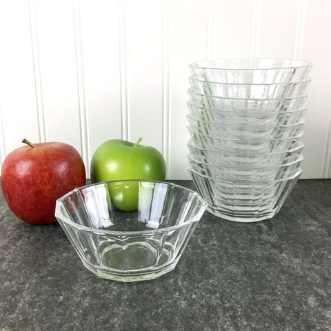 10 Bormioli Glass side bowls - made in Italy - NextStage Vintage