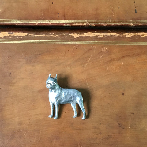 Boston terrier pin - vintage dog jewelry