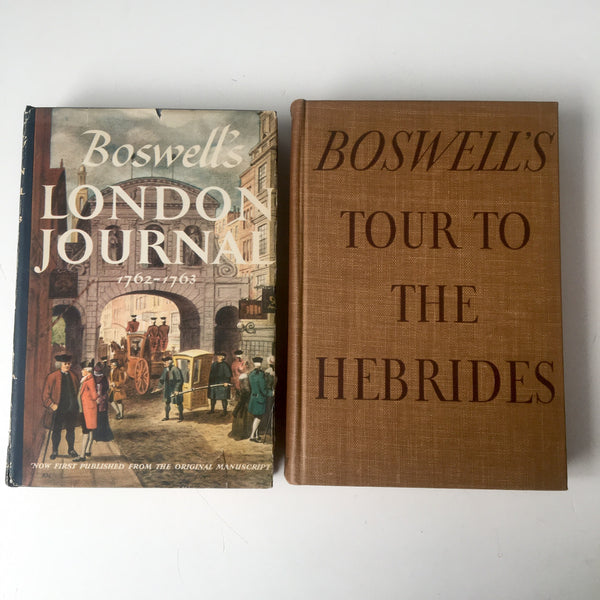 James Boswell books - set of 2 - Boswell's Tour to the Hebrides (1936) - Boswell's London Journal (1950) - NextStage Vintage