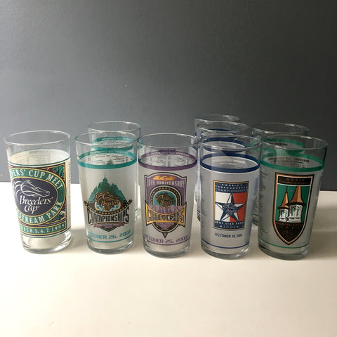 Breeders' Cup championship glasses - 1999, 2002, 2004, 2006, 2003