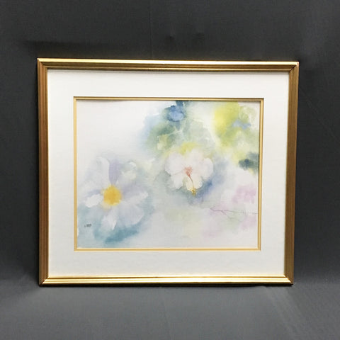 Millie Briggs hibiscus flower watercolor - Martha's Vineyard artist