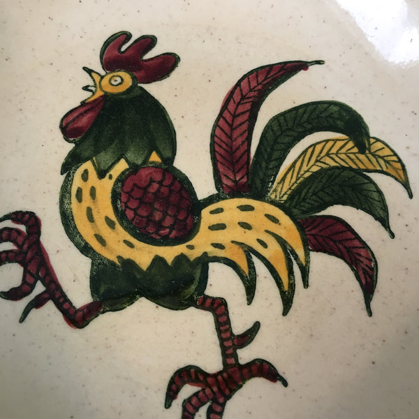 "Poppytrail California Provincial rooster 10"" serving bowl - vintage china"