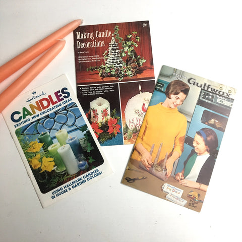 Vintage candle making and decor booklets - 1960s and 1970s