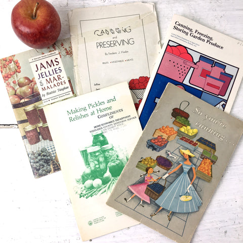 Canning and preserving vintage cook booklets - 5 vintage recipe booklets - NextStage Vintage