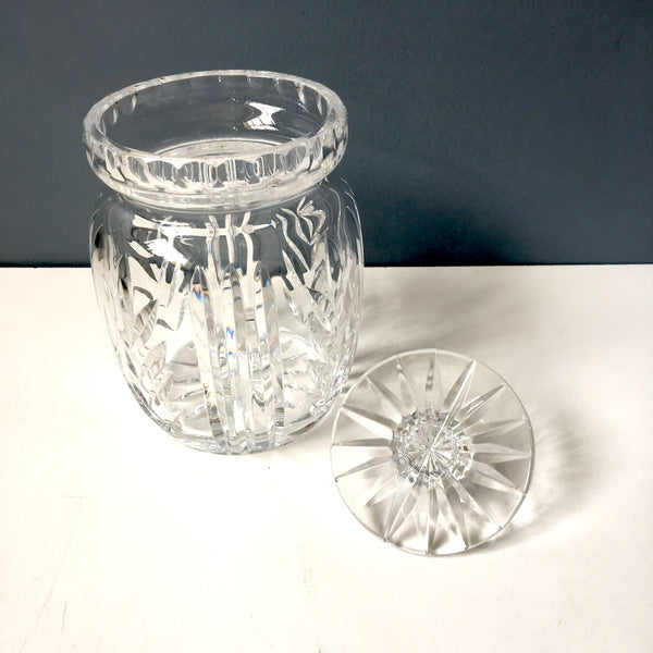Ceska crystal biscuit barrel with lid - fine Polish crystal - NextStage Vintage