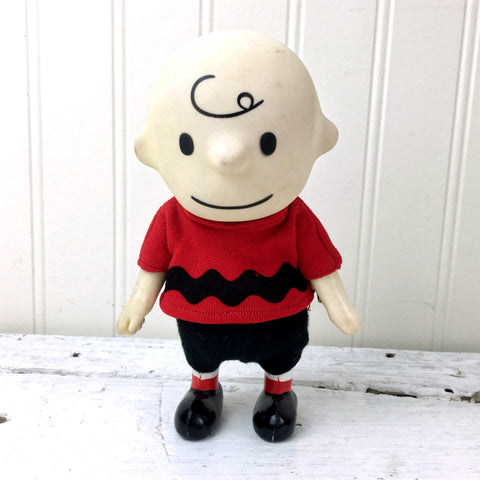 Charlie Brown Pocket Doll by Boucher Associates - 1960s plastic doll