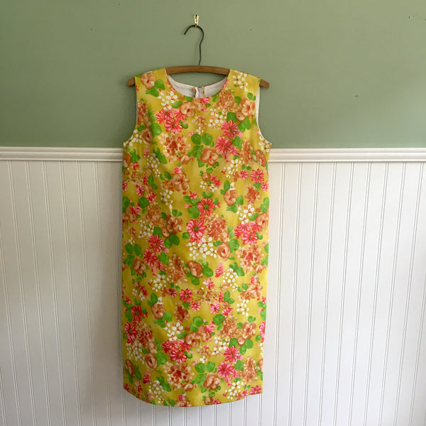 Miami Originals sleeveless A-line shift - size small - 1960s vintage floral dress - NextStage Vintage