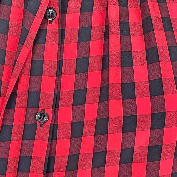 1980s red and black check blouse by Nicola - size s-m - NextStage Vintage