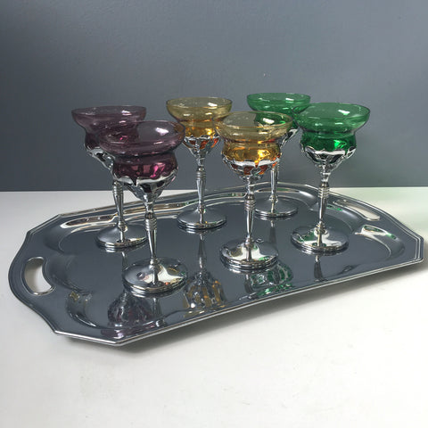 Chrome and glass cocktail set - 1950s vintage