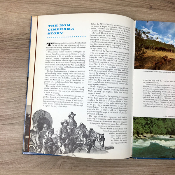 Cinerama: How the West Was Won - photo book - 1963 hardcover