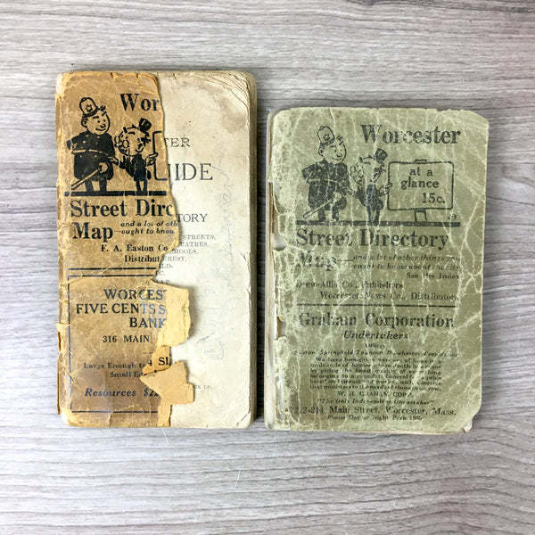 Worcester, MA City Guide and Street Directory - 1918 and 1923 - Massachusetts history