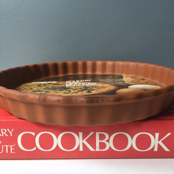 "Copco Country Clay 10"" Quiche dish - 1980s kitchen baking pan - NextStage Vintage"