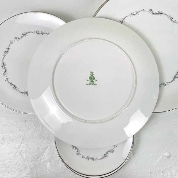 Royal Doulton Coronet #H4947 - 12 pieces - dinner, salad, bread and butter plates - NextStage Vintage