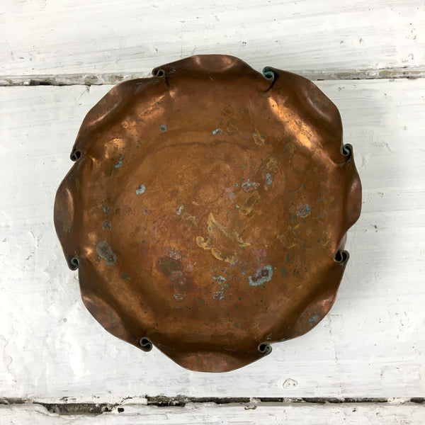 Craftsman Co. hand made copper bowl #820 - vintage California copper
