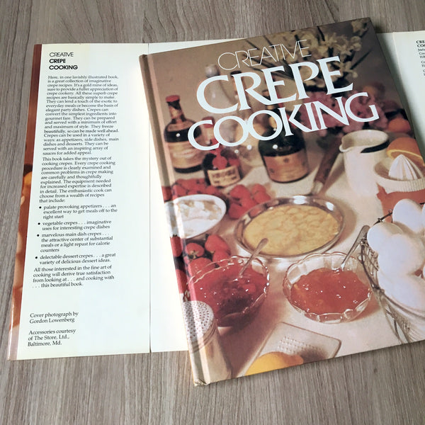 Creative Crepe Cooking by Ruth Malinowski and Richard Ahrens - 1976 first edition - NextStage Vintage