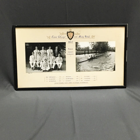 Clare College 1st May Boat 1965 - vintage University of Cambridge rowing team photos