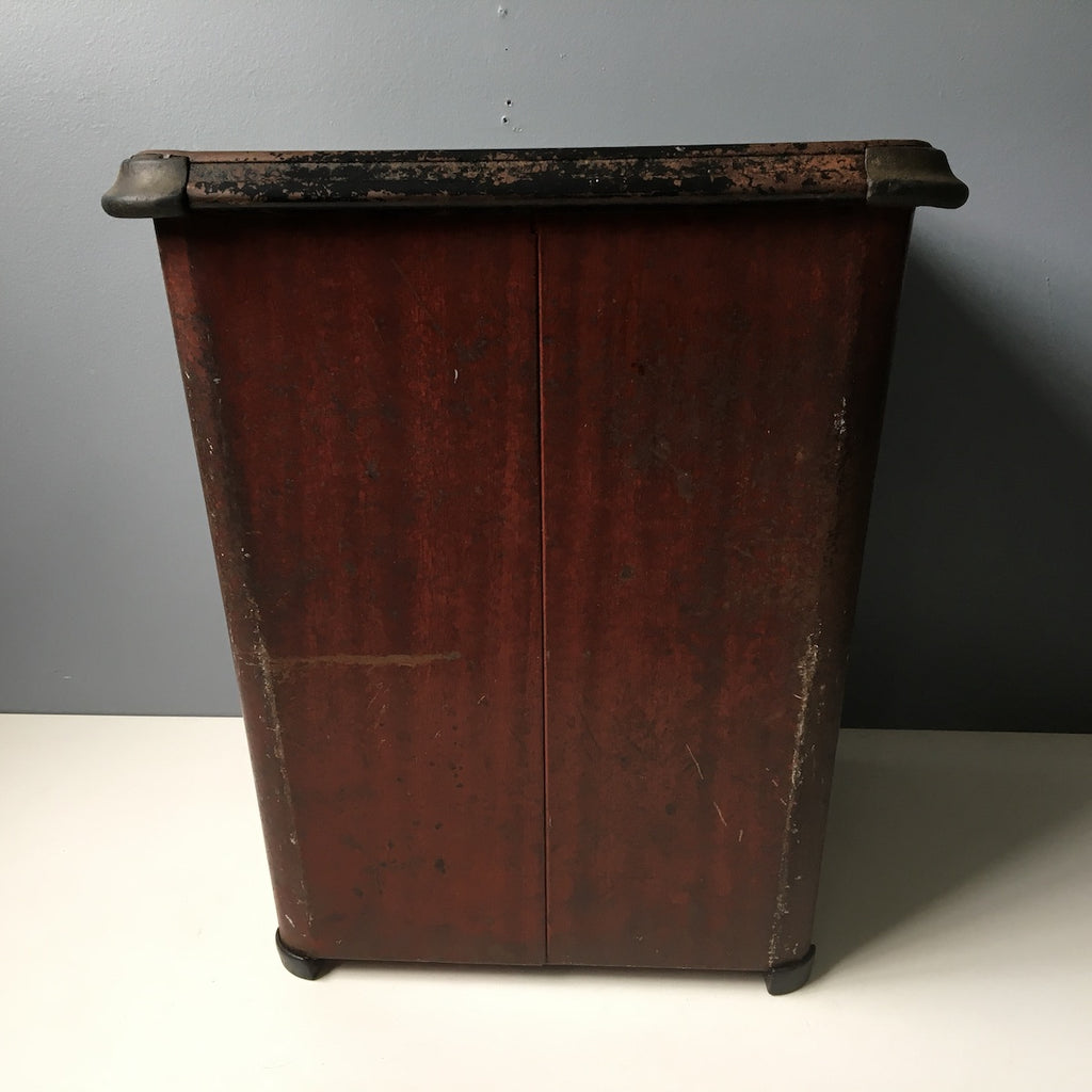 Erie Art Metal Co. Dan Dee No. 168 - antique metal wastebasket - NextStage Vintage