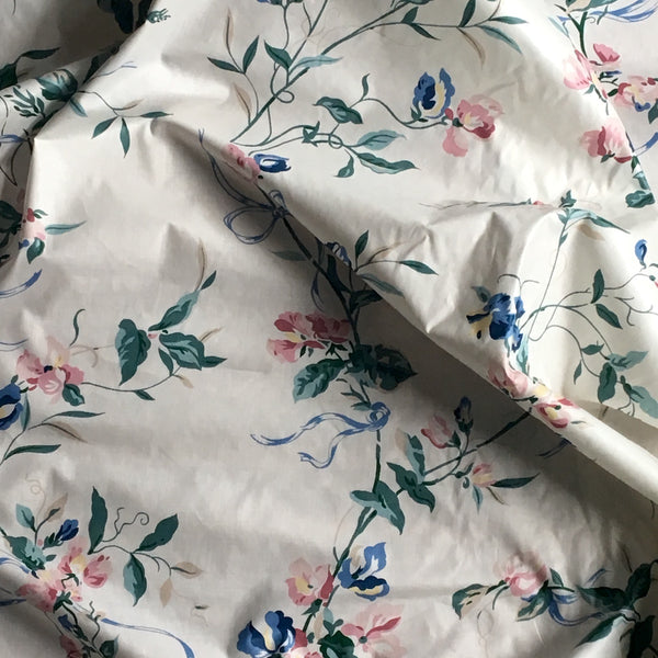 "Designer's Gallery Collection ""Chelsea"" floral polished cotton drapery fabric - 3 2/3 yards - NextStage Vintage"