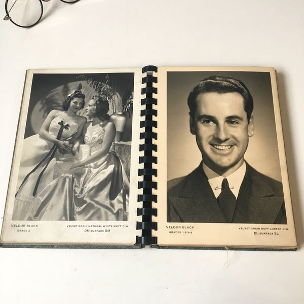 Defender Specimen Prints Velour Black - photograph finishing sample book - early 20th century - NextStage Vintage