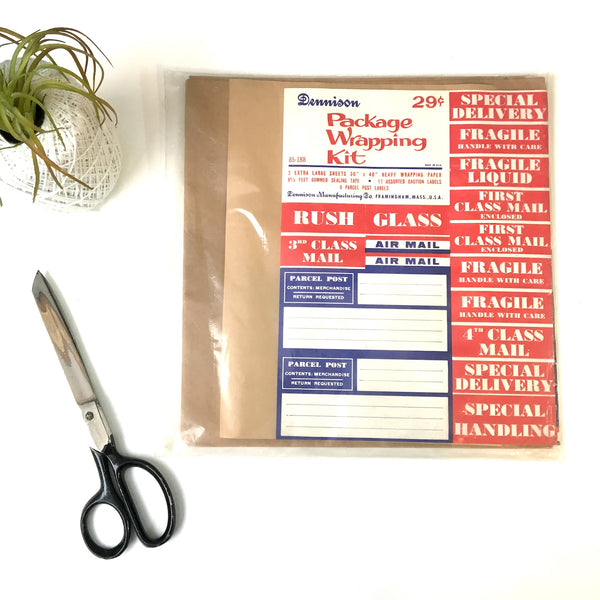 Dennison Package Wrapping Kit - vintage stationery - NextStage Vintage
