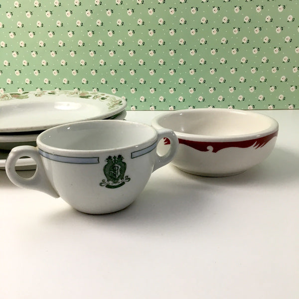 Vintage restaurant ware china - 5 pieces - Buffalo, Homer Laughlin, Grindley, Sterling - mix & match - NextStage Vintage