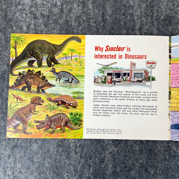 Sinclair Dinoland - NY World's Fair 1964-65 brochure - The Exciting World of Dinosaurs - NextStage Vintage