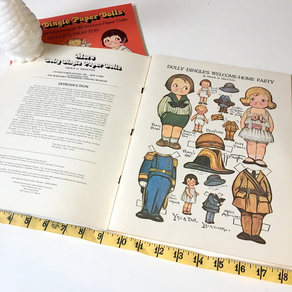 Dolly Dingle Paper Dolls by Grace G. Drayton - two books! - 1979 Dover Publications - NextStage Vintage