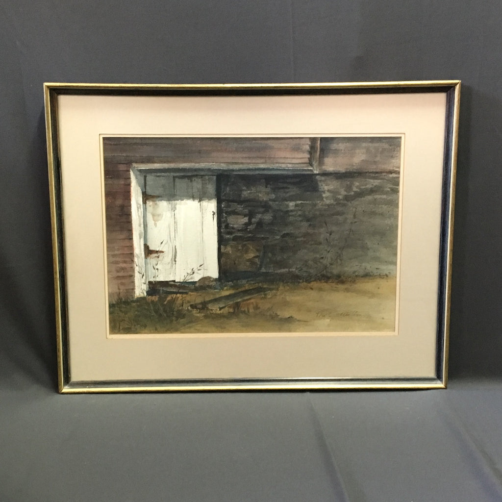 Door in the Wall - Marley Watton watercolor painting - 1970s art