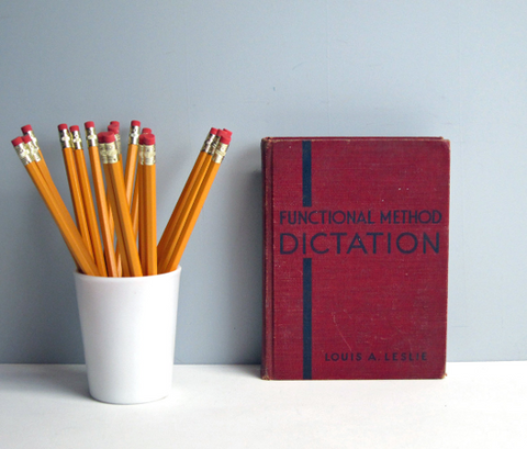 Vintage Functional Method Dictation - shorthand exercises by Louis A. Leslie - 1936 - Gregg Publishing - NextStage Vintage