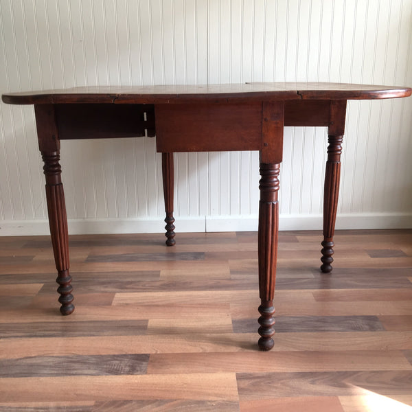 Antique 19th century country gate leg drop leaf table - hand built - circa 1850 - NextStage Vintage