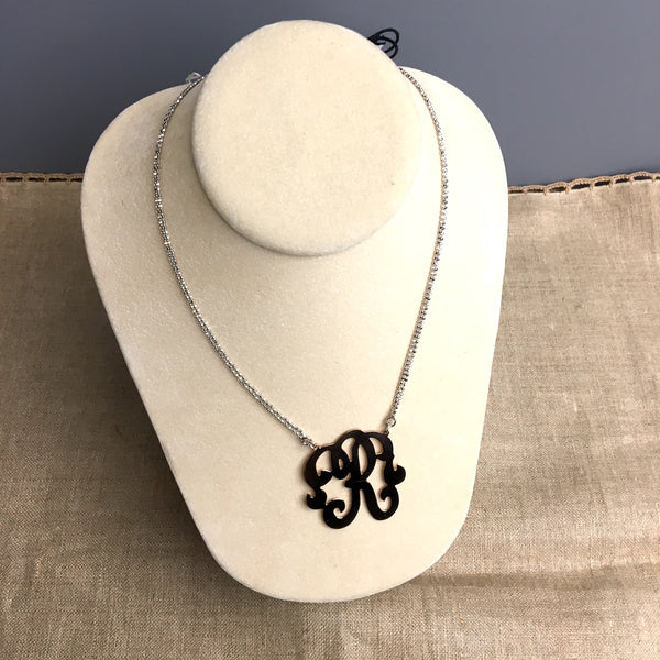 "Dyadema sterling necklace ""R"" monogram necklace - NWT - made in Italy - NextStage Vintage"
