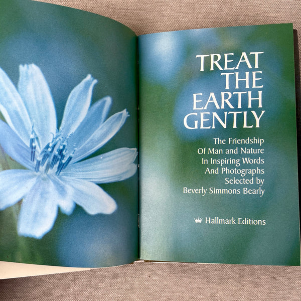 Treat the Earth Gently - edited by Beverly Simmons Bearly - 1972 Hallmark gift book - NextStage Vintage