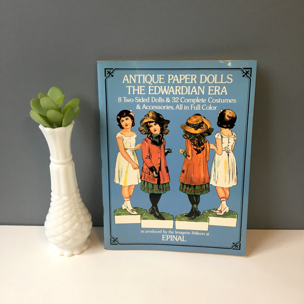 Antique Paper Dolls: The Edwardian Era as produced by Imagerie Pellerin at Epinal - 1975 Dover Publications - NextStage Vintage